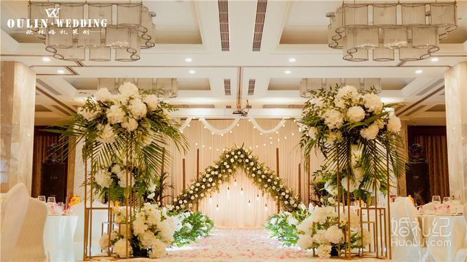 9米  木框  鲜花  白桦树  logo  铁皮桶   花艺装饰  仪式区 主背景8