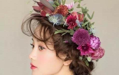 好看的新娘发型图片