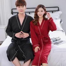 情侣睡袍结婚棉睡衣春秋日式和服家居服性感单件浴袍