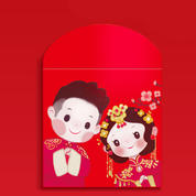 原创 中式 新款可爱结婚小号红包袋创意婚礼婚庆迷你红利是封