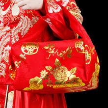 热销婚庆用品结婚必备婚礼新娘红色包袱皮陪嫁妆包裹皮包袱布