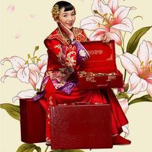 【包邮】婚庆嫁妆新娘复古官箱密码手提压箱