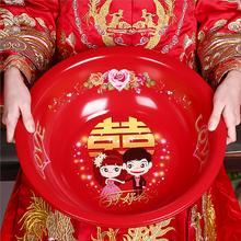 【包邮】婚庆搪瓷红脸盆 新娘嫁妆洗脸盆卡通红盆旺盆