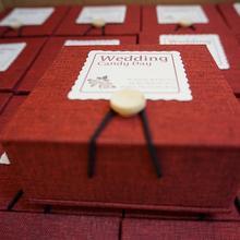 新款高档亚麻个性喜糖盒伴手礼成品喜糖盒