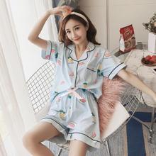 可外穿性感睡衣女夏季薄款短袖短裤薄款清新甜美公主风家居服套装