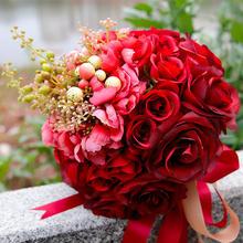 包邮:2018新款欧式森系仿真手捧花 新娘手捧花