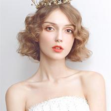超短发怎么做新娘发型