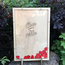 木签名板册签到树台本结婚礼庆生日年会指纹布置道具爱心木片创意