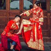 特价五天】Baby款秀禾服中式结婚敬酒古装新娘喜服龙凤褂衣