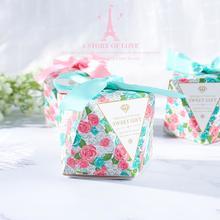 新款喜糖盒欧式结婚创意糖果礼盒钻石形韩式