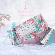 新款喜糖盒欧式结婚创意三角糖果礼盒韩式婚礼纸盒子