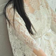GAIGAIYU《秘密的爱恋》手工定制新娘晨袍 法国蕾丝实拍
