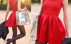 红色裙子配什么颜色的鞋子