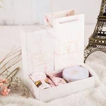INS风大理石欧式婚礼回礼婚庆喜糖盒子创意结婚伴手礼成品含糖