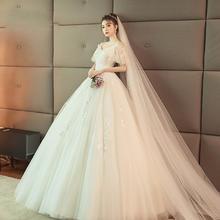 可拆卸袖口!2018新款女简约吊带新娘结婚显瘦公主蓬蓬裙大码