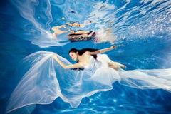 拍水下婚纱照痛苦吗