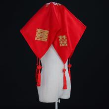 盖头新娘红色结婚刺绣超大中式秀禾盖头红色新娘盖头刺绣真丝喜帕