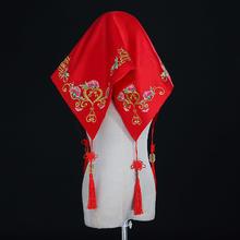 盖头喜帕新娘2018新款红色红盖头结婚新娘秀禾盖头中式刺绣女