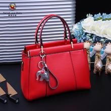 【鹦鹉恋歌】时尚单肩女包大红色结婚新娘包婚礼伴娘包百搭手提包