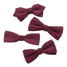 小白家婚礼新郎酒红领结敬酒服结婚红色蝴蝶结喜庆男士西装领带