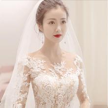 【2月3日陆续发货】仲夏夜之梦•韩式蕾丝长袖婚纱•送三件套