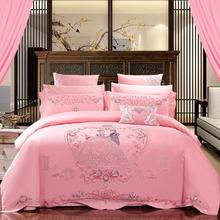 西式甜蜜粉色婚嫁床品套装