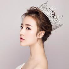 公主王冠!新娘头饰结婚巴洛克大皇冠婚纱礼服配饰品新款圆形