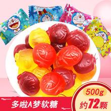 哆啦A梦果汁软糖橡皮糖500克约72颗