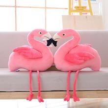【一对包邮】爱情象征结婚娃娃INS创意毛绒火烈鸟公仔可爱抱枕
