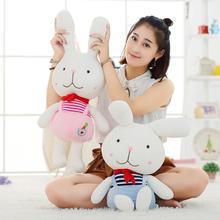 一对包邮红领巾兔子结婚压床娃娃可爱情侣少先队兔子校园风系列
