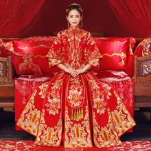 抖音同款秀禾服2018新款新娘出阁服结婚礼服中式婚纱敬酒服秀