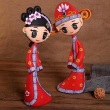 包邮一对创意纯手工软陶瓷可爱娃娃新婚礼物婚房摆件精美工艺装饰