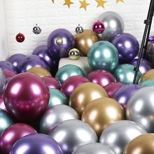 铬色金属气球金银色加厚珠光ins网红气球