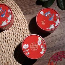 中式喜鹊花纹马口铁喜糖盒