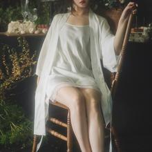 亲爱的白《含羞草与小苍兰》睡裙睡袍女浴袍新婚礼物伴娘新娘晨袍