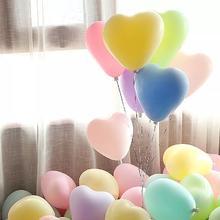 浪漫马卡龙爱心形糖果色告白气球求结婚礼房生日派对装饰布置用品