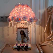 结婚卧室床头灯 创意时尚婚房新结婚房送闺蜜礼物长明灯浪漫红色