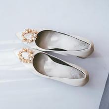 829  新款香槟色上轿鞋小清新高跟鞋孕妇粗跟   6厘米