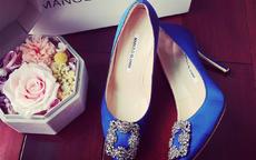 结婚能穿宝蓝色的鞋子 婚鞋颜色选择
