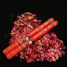 婚礼结婚礼宾花 手持礼花桶 喜结良缘红喜款拉炮礼花弹