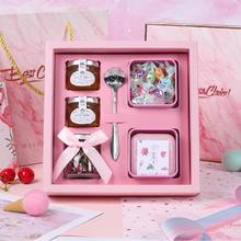 伴手礼粉色结婚小礼物伴娘喜糖礼盒成品含糖ins生日满月百日回