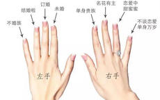 手指戴戒指的含义(图解)