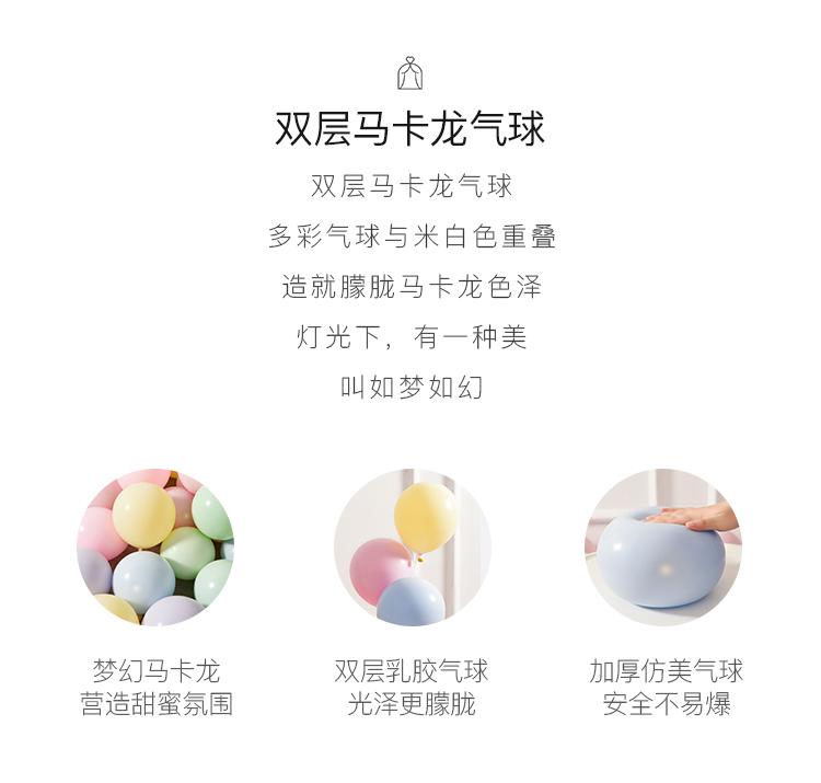 【100个装】甜蜜马卡龙乳胶气球