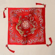 红盖头中式新娘2018新款红色流苏结婚盖头刺绣古典秀禾服喜帕