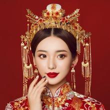 中式传统凤冠新娘头饰