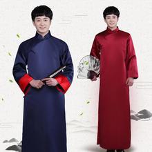 中式伴郎服唐装结婚礼服男士长衫长袍大褂书生古装舞台演出服
