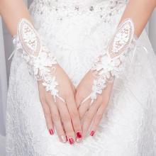 狂奔蜗牛婚纱新款手套短款蕾丝花边新娘结婚手套婚纱礼服专用