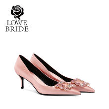 6.5厘米 32-41大小码新娘鞋伴娘婚鞋高跟单鞋女