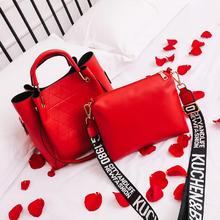 大红色结婚包包女2018新款时尚百搭新娘包子母包手提包斜挎包