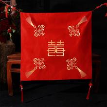 红盖头2018新款秋冬结婚盖头新娘中式刺绣红色古典秀禾服盖头